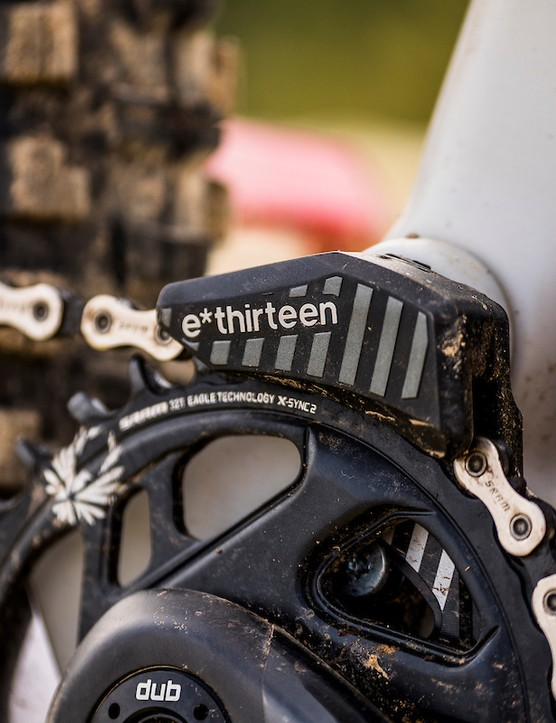 Chainguide from e*thirteen on full suspension mountain bike