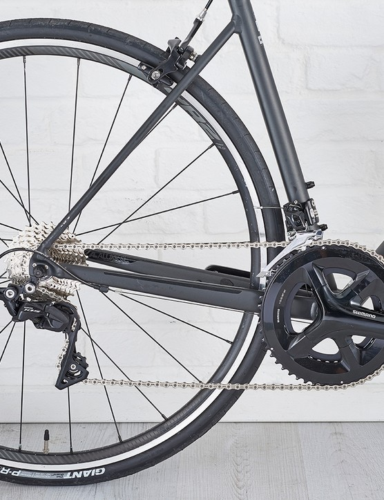 Shimano FC510 chainset with 105 gears on Giant Contend road bike