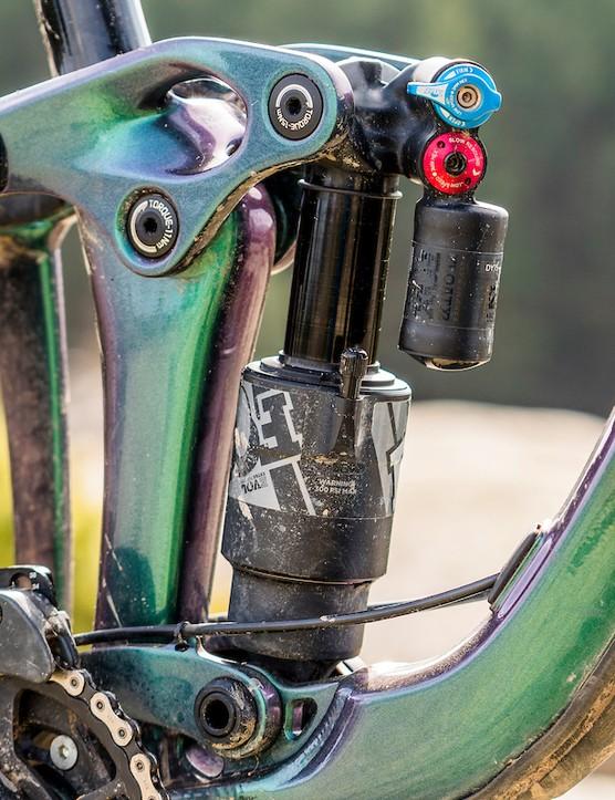 Fox Float Performance X2 rear shock on Giant Reign 29 1 full suspension mountain bike
