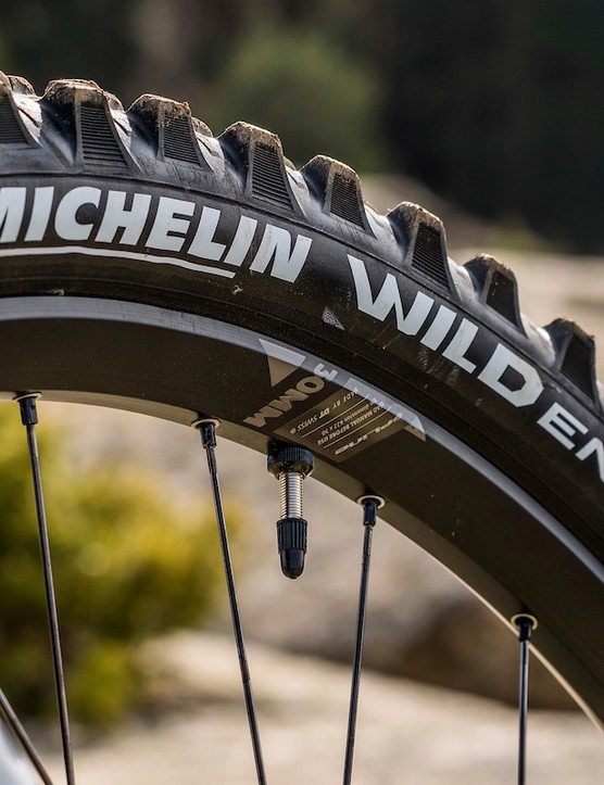 Michelin Wild Enduro tyre on DT Swiss E1900 wheels, full suspension mountain bike