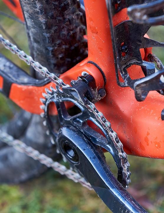 Chainguide on full suspension mountain bike