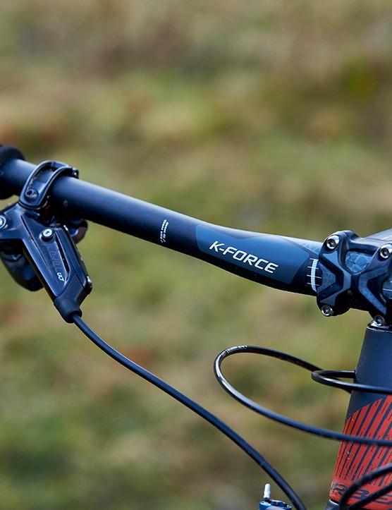 FSA K-Force Flat handle bar on full suspension mountain bike