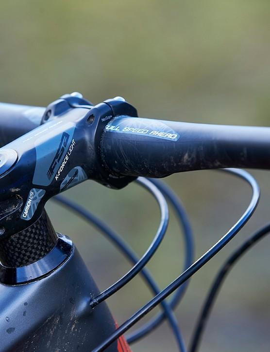 FSA K-Force, 70mm stem on the full suspension mountain bike