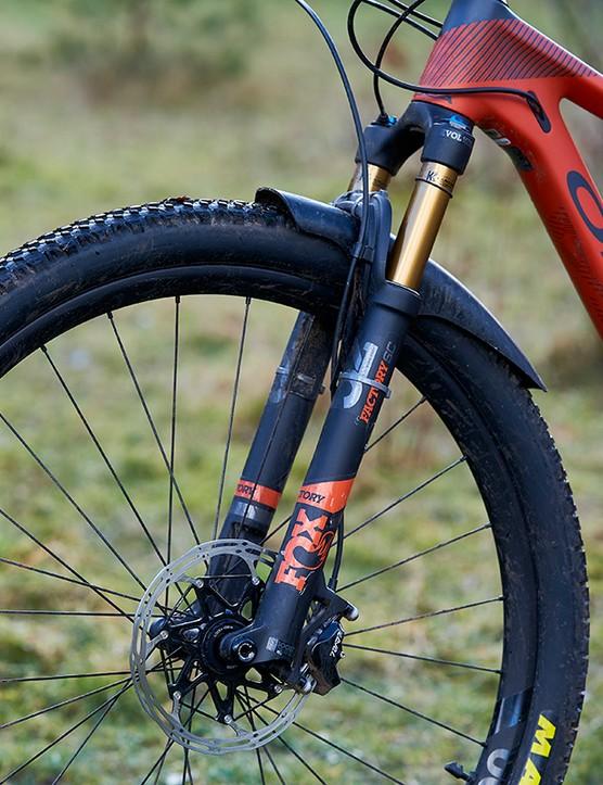 Fox 32 SC fork on full suspension mountain bike