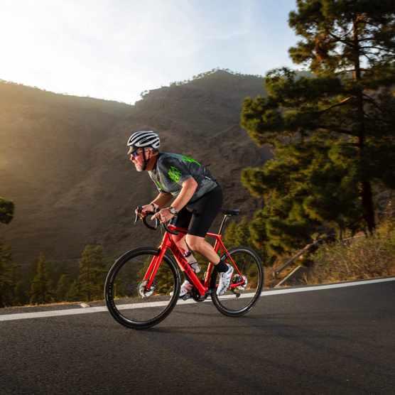 Warren Rossiter testing a bike in Gran Canaria for Bike of the Year 2020