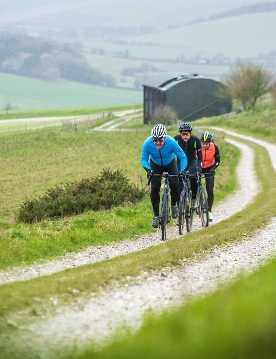 Gravel bike testing on Salisbury Plain for Bike of the Year 2020