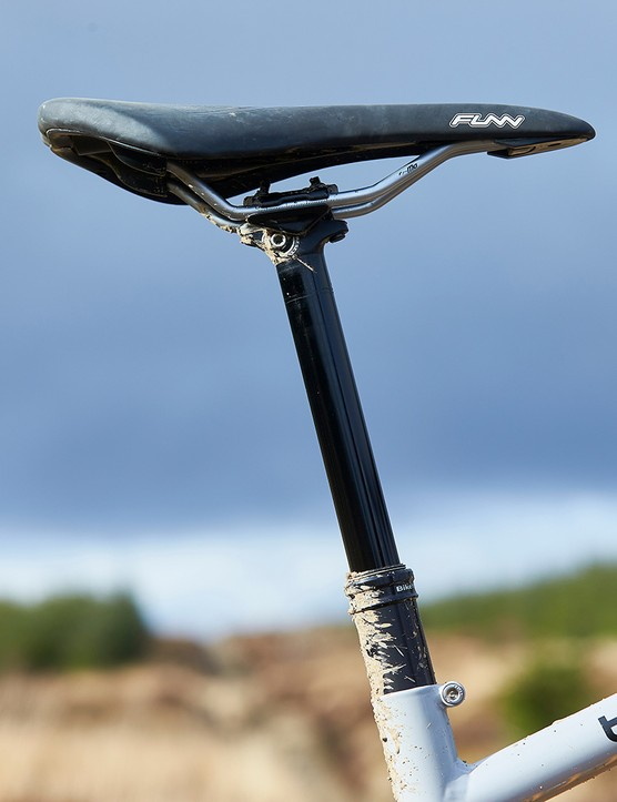 Funn saddle on Bike Yoke Revive, 160mm post on full suspension mountain bike