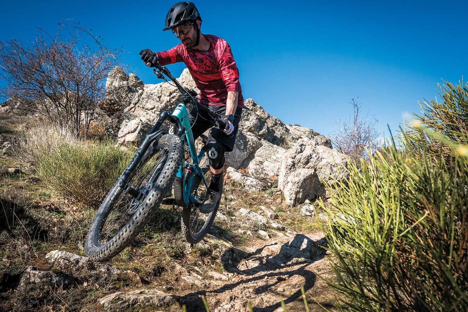 Male cyclist riding the Trek Fuel EX 9.7