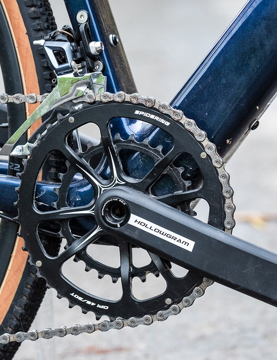 HollowGram chainset on the Cannondale Topstone Carbon Ultegra RX gravel bike