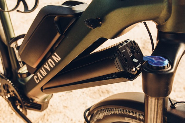 Canyon Pathlite:On electric trekking bike with Bosch motor and battery