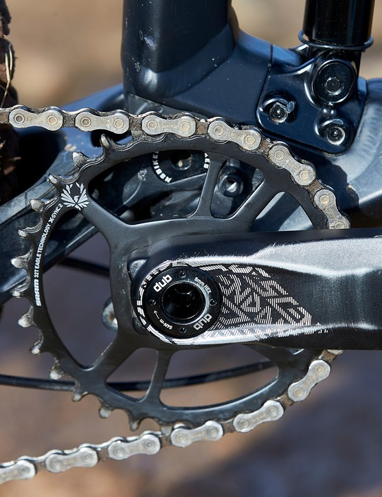 Truvativ Descendant  crank on NS Bikes Define AL mtb. Bike Park Wales, Gethin, Wales. February 2020.