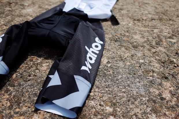 Le Col x Wahoo Indoor Training bib shorts detail