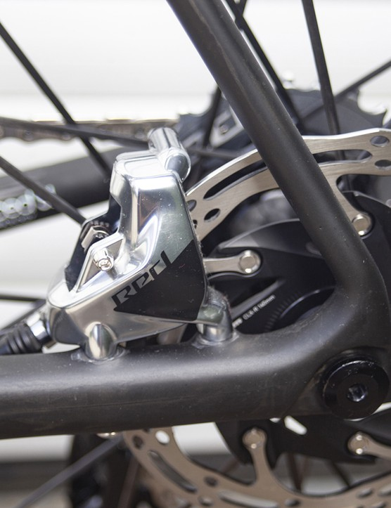 Rear disc brake mount on the 2021 version of the Giant TCR Advanced SL