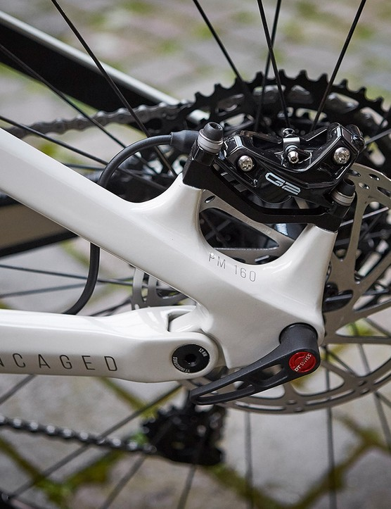 The Izzo range of full suspension mountain bikes use SRAM G2 disc brakes