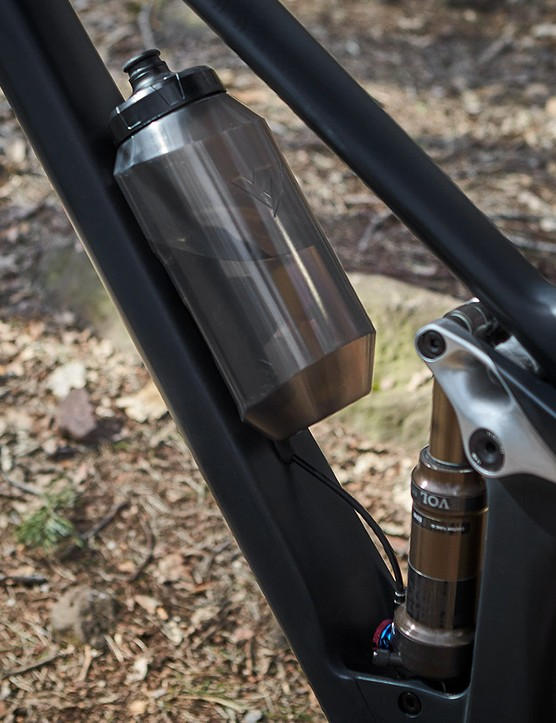 The Izzo full suspension mountain bike comes with a Fidlock waterbottle