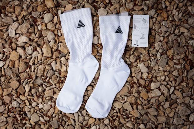 Rule 28 Aero Socks on pebbles