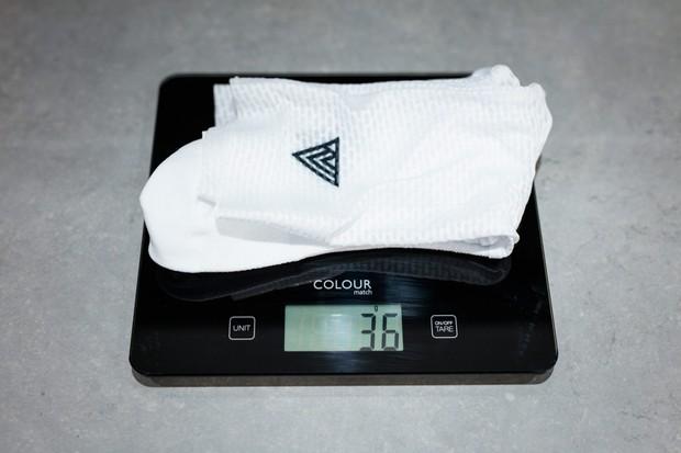 Rule 28 Aero Socks on scale