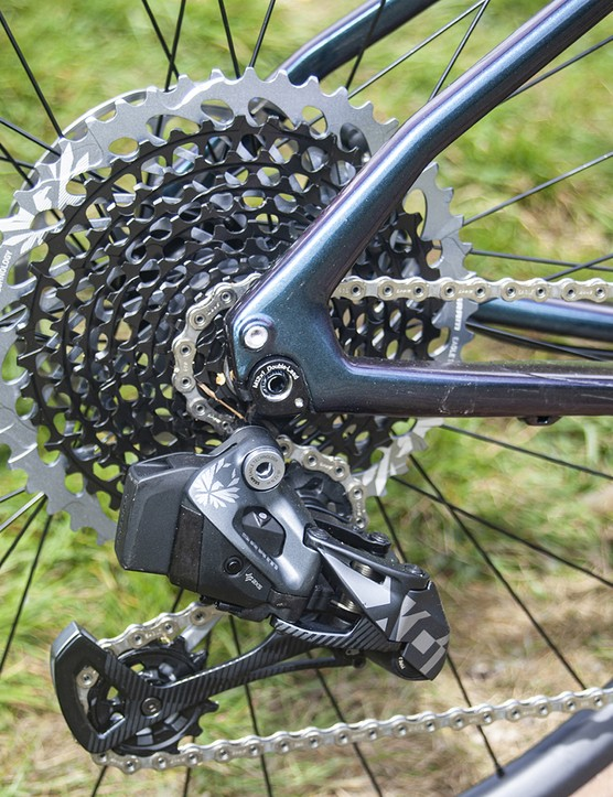 SRAM Eagle X01 mech and cassette on Cannondale Topstone road bike