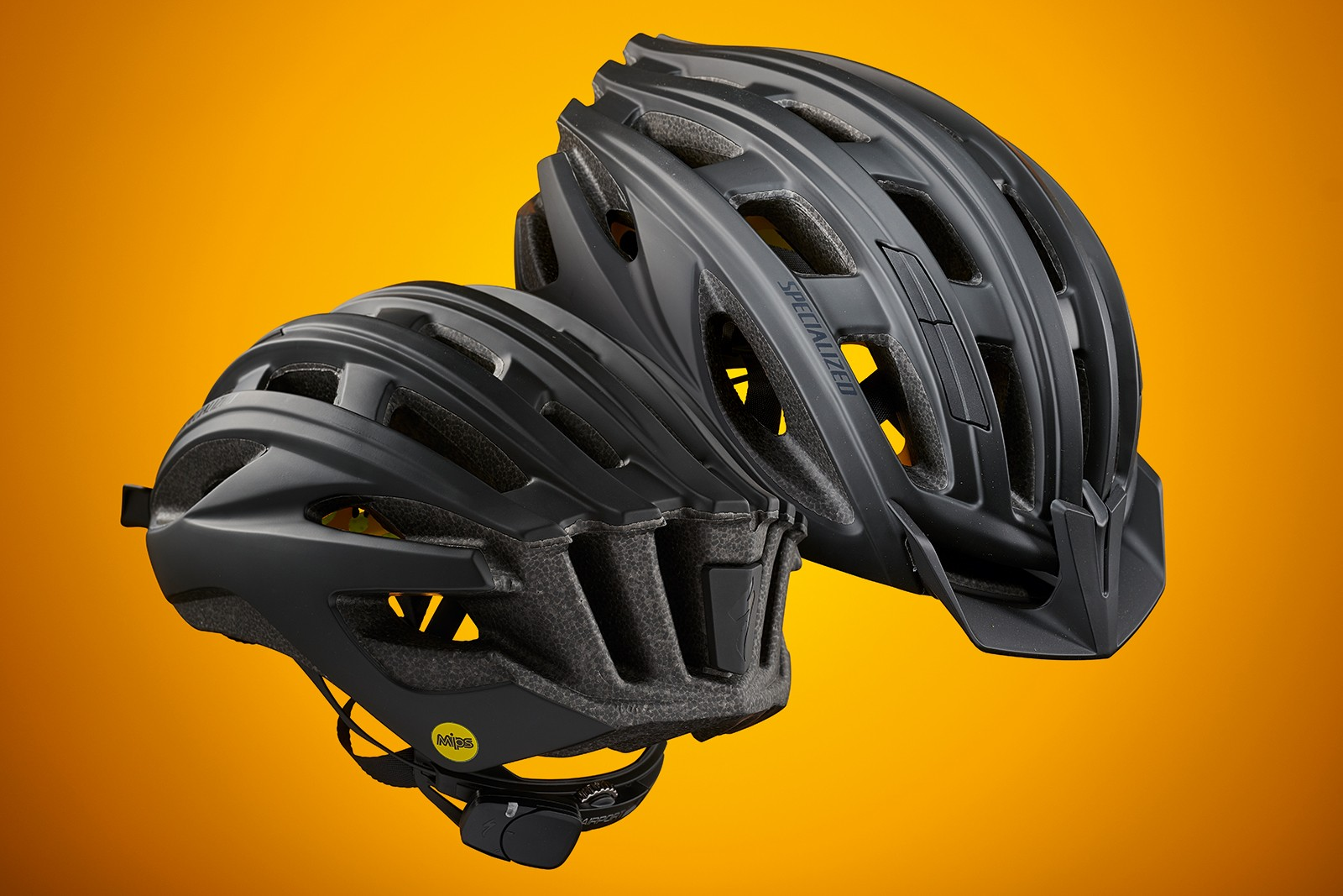Specialized Propero 3 ANGI road helmet with a sensor that connects to a smartphone