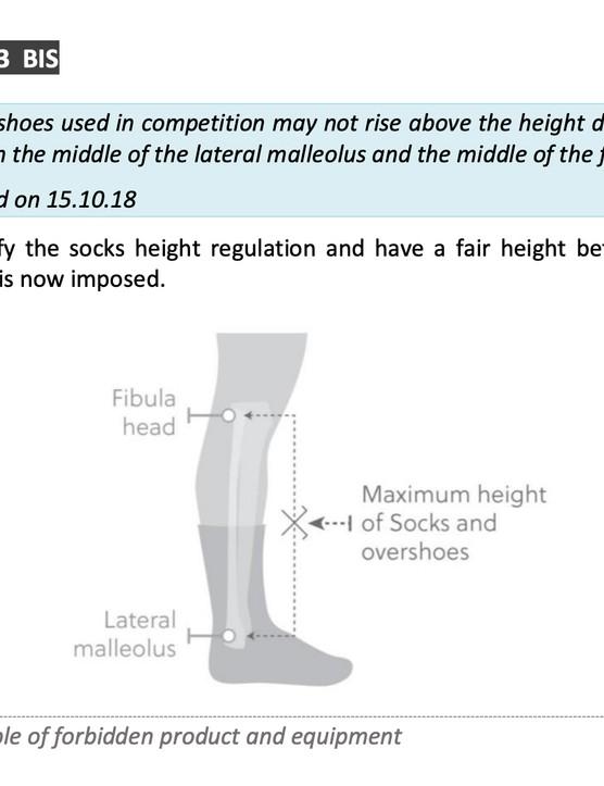UCI Sock Height Rule