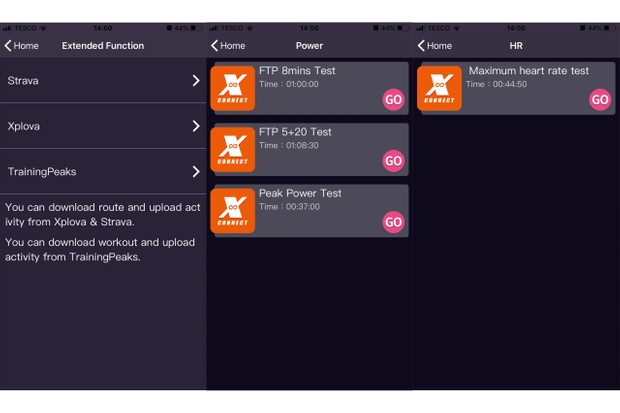 Xplova Workout iOS/Android app_Workouts