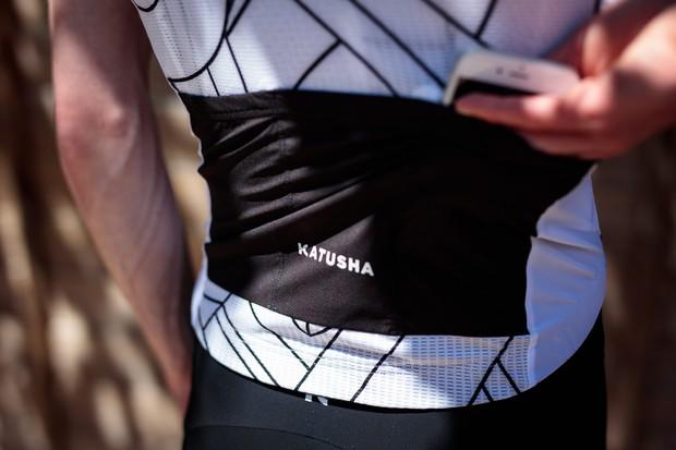 Katusha Superlight jersey rear pockets