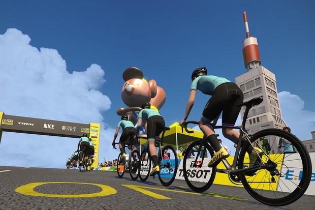 Virtual Tour de France on Zwift