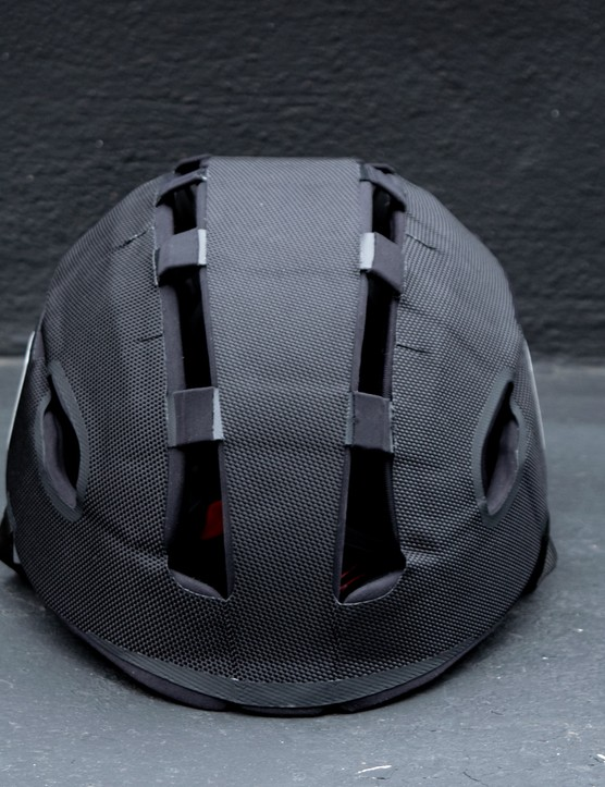 Headkayse bike helmet front in black