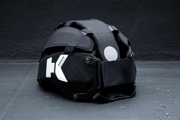 Headkayse bike helmet side in black