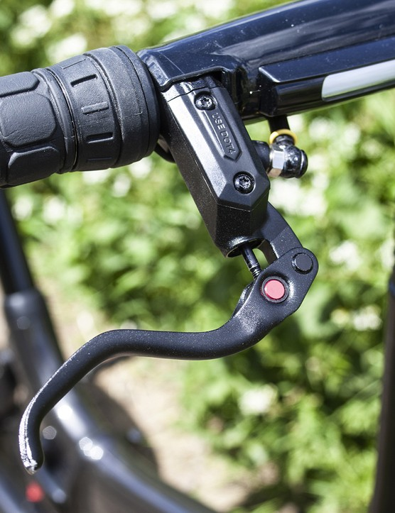 The GoCycle GXi ebike Hydraulic disc brakes