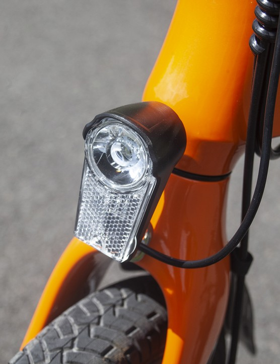 The MiRiDER One ebike come with an integrated front light
