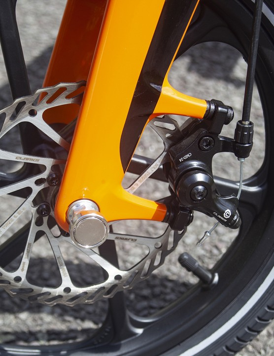 The MiRiDER One ebike come with disc brakes