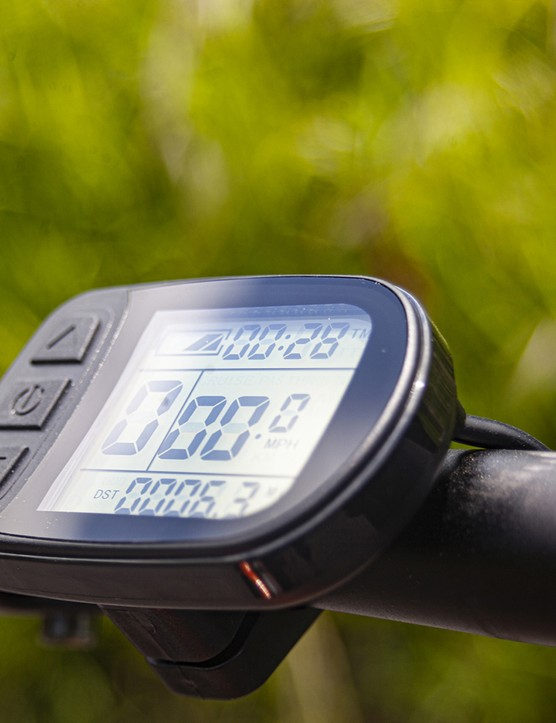 The MiRiDER One ebike has a bar mounted LCD display