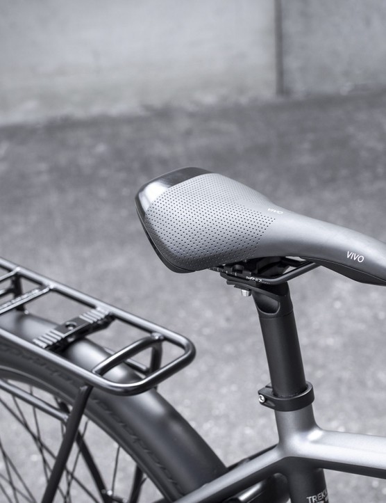 Saddle and rear rack
