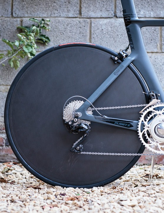 Walker Brother's rear carbon disc wheel
