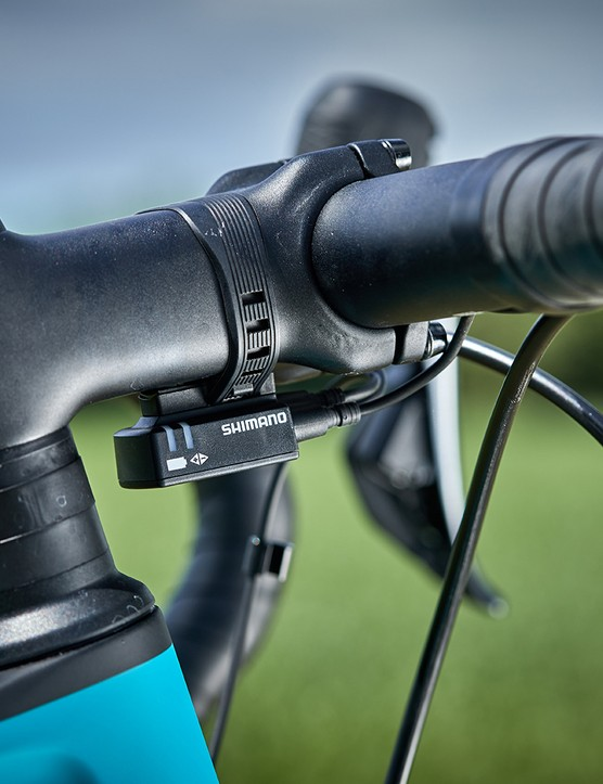 Electronic shifting in the form of Shimano Ultegra Di2 on the Canyon Endurace women's road bike