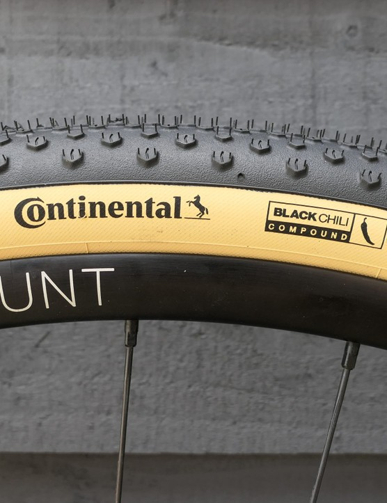 Continental Terra Speed tan wall gravel tyres