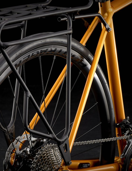 The bike accepts front and rear rack, and mudguards.