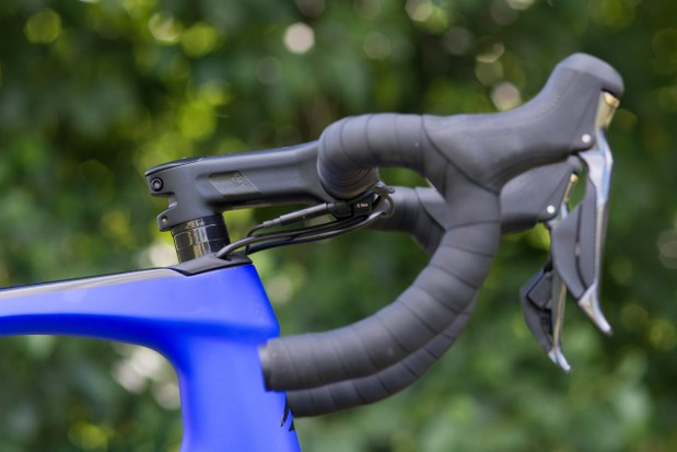 Cable routing under stem