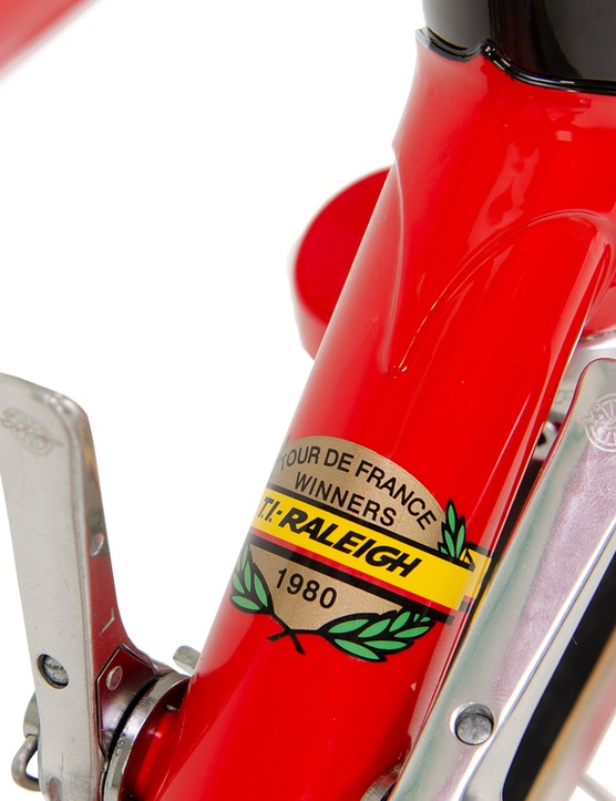 Downtube shifters and classic frame decals