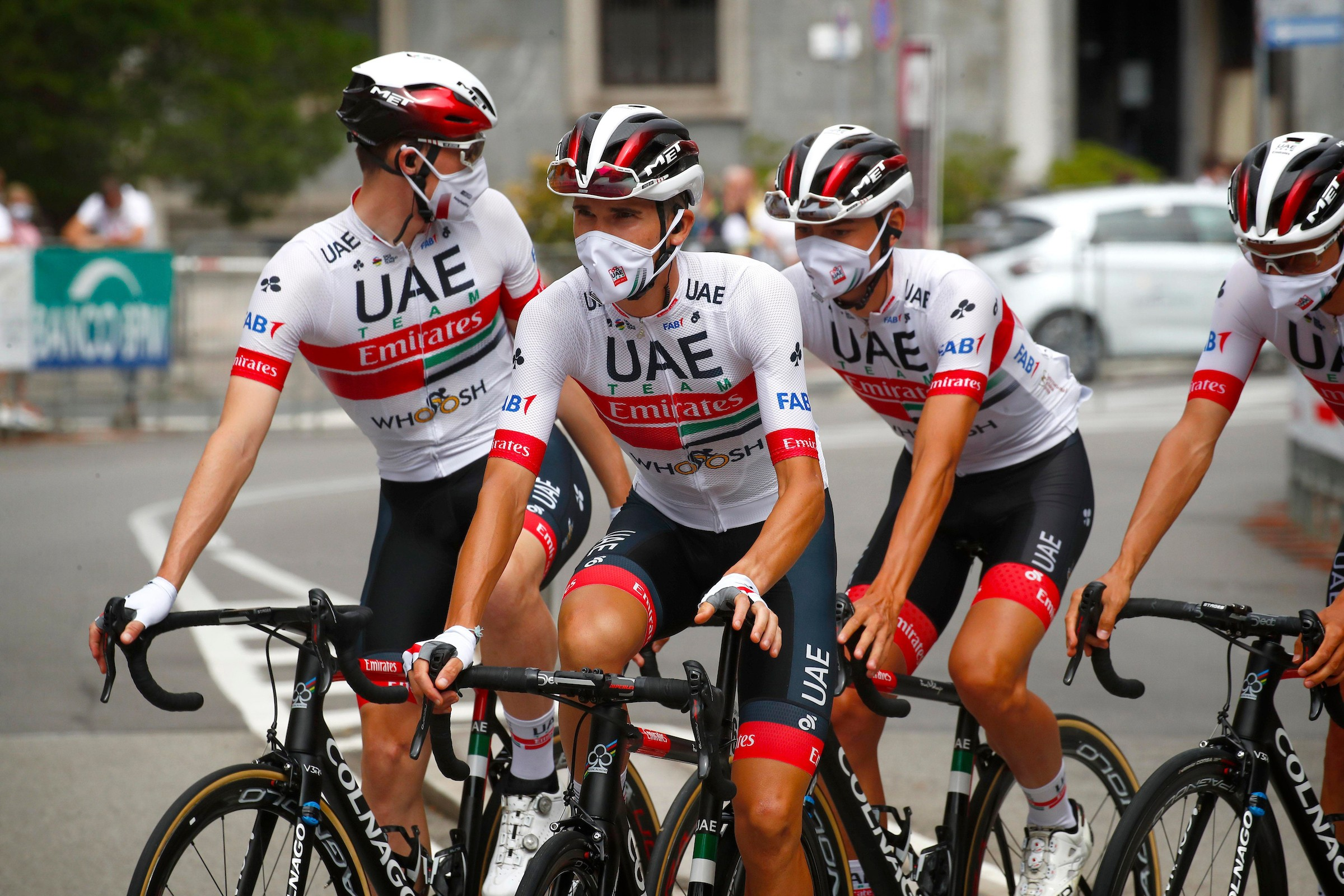 Team UAE Emirates on Colnago bikes