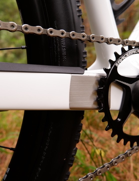 Canyon Exceed chainstay protection.