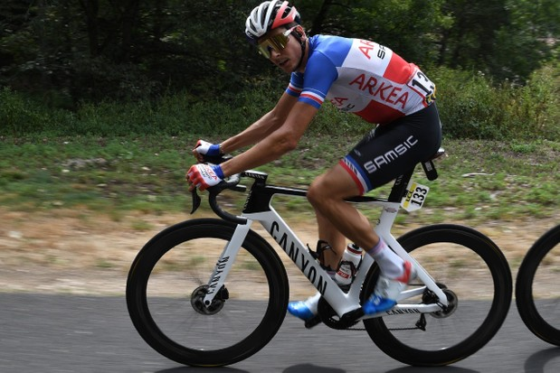 Warren Barguil riding 2020 Canyon Aeroad