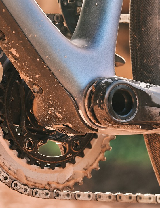 The Liv Devote Advanced Pro women's gravel bike uses a SRAM eTap AXS Wide groupset