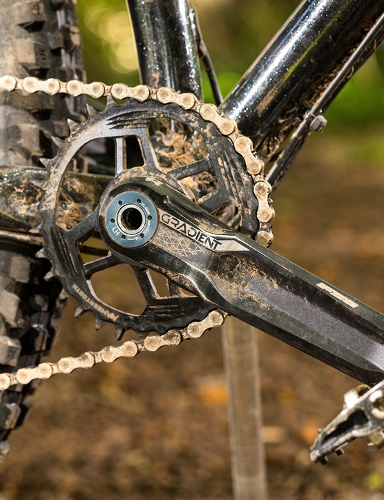 FSA Comet cranks on a hardtail mountain bike