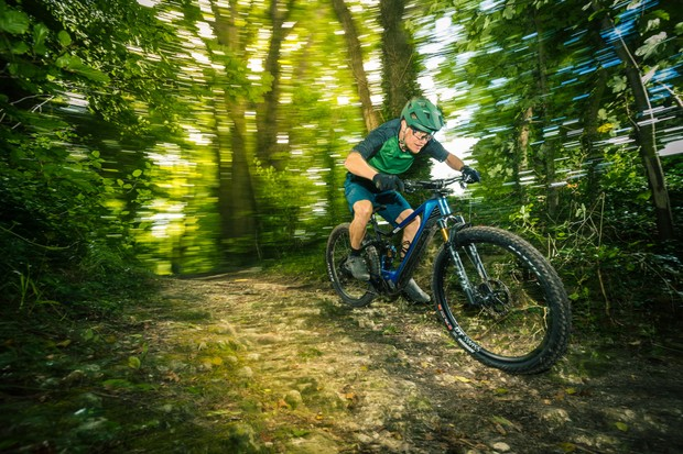 Merida eOne-Sixty electric mountain bike with Shimano DU-EP800 motor