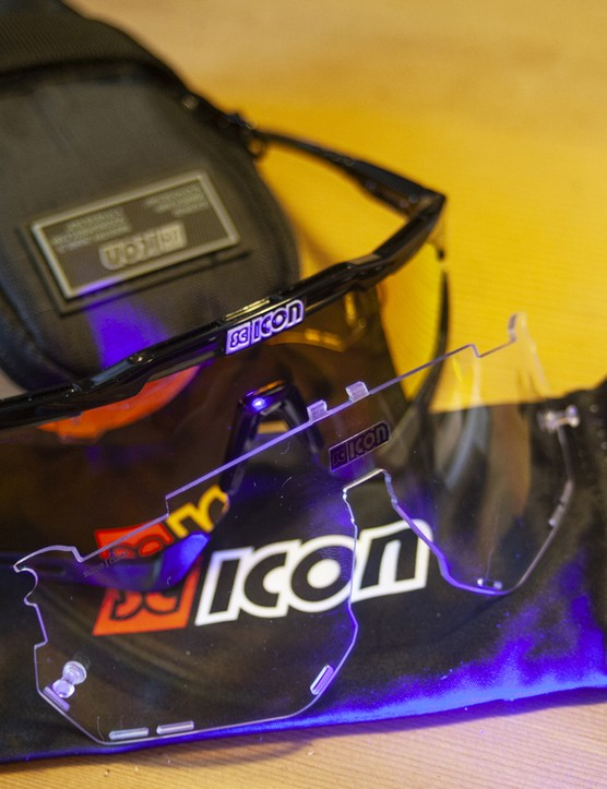 Scicon Aeroshade sunglasses with a case and soft cleaning bag