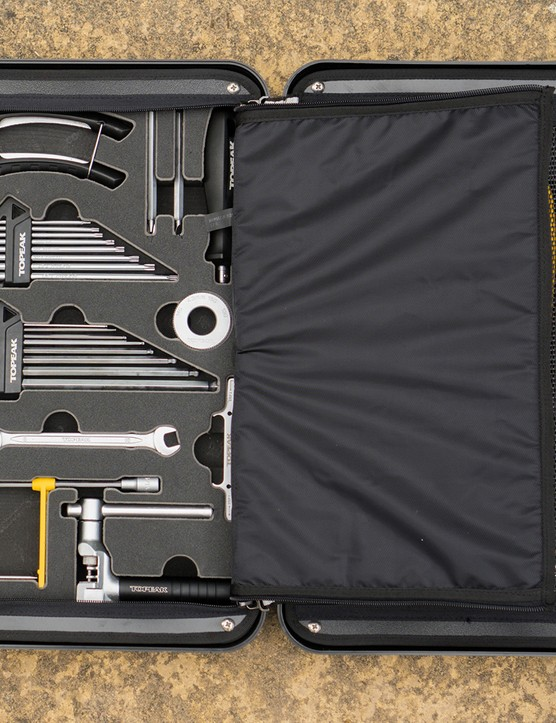 Internal view of the Topeak Prepbox toolkit