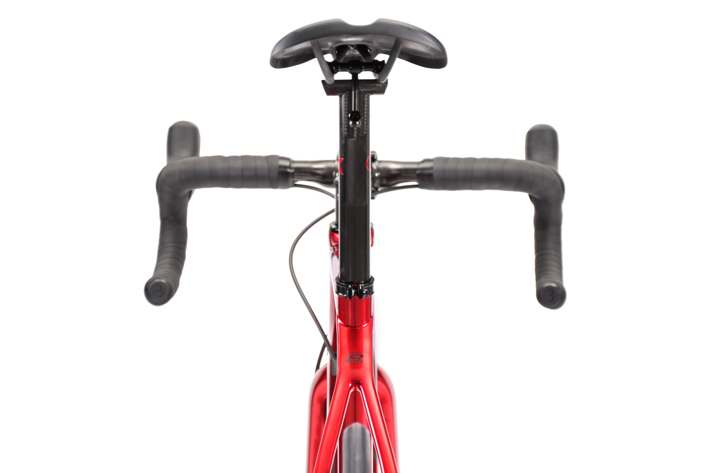 Rear view of seatpost and saddle