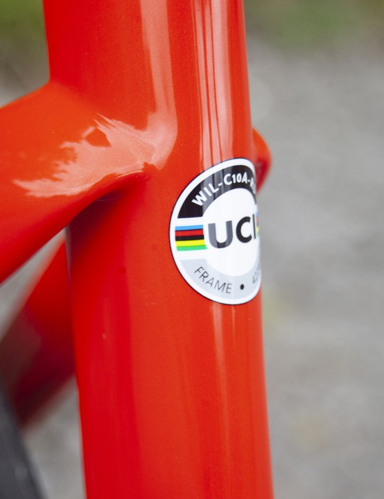 Wilier Cento10 SL Ultegra Di2 seat tube and UCI sticker